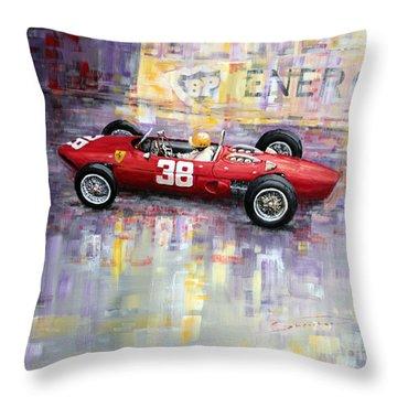 1962 Ricardo Rodriguez Ferrari 156 Throw Pillow by Yuriy Shevchuk