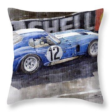 1965 Le Mans  Daytona Cobra Coupe  Throw Pillow by Yuriy Shevchuk