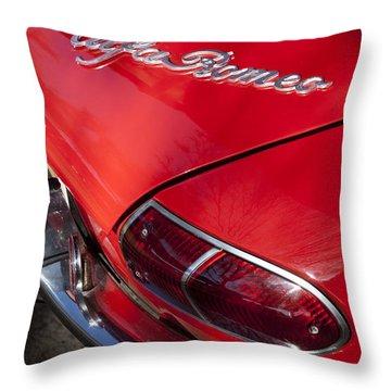 1969 Alfa Romeo 1750 Spider Taillight Emblem Throw Pillow by Jill Reger
