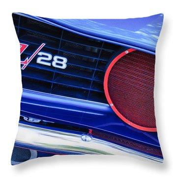 1969 Chevrolet Camaro Z28 Grille Emblem Throw Pillow by Jill Reger