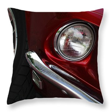 1969 Ford Mustang Mach 1 Front Throw Pillow by Jill Reger