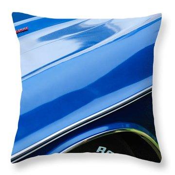 1970 Dodge Challenger Rt Convertible Emblems Throw Pillow by Jill Reger