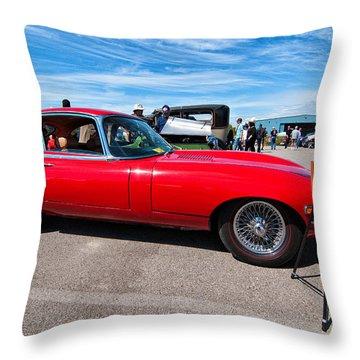 1970 Jaguar Xke 2 Plus 2 Series II Throw Pillow by Steve Harrington