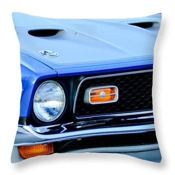 1971 Ford Mustang Boss 351 Cleveland Throw Pillow by Jill Reger