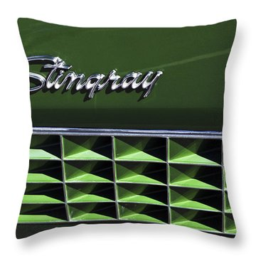 1972 Chevrolet Corvette Stingray Emblem Throw Pillow by Jill Reger