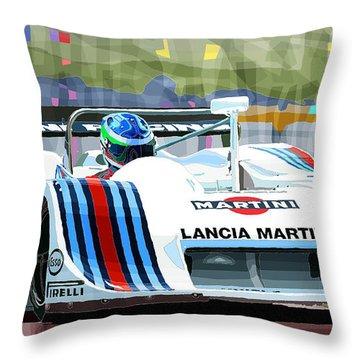 1982 Lancia Lc1 Martini Throw Pillow by Yuriy  Shevchuk