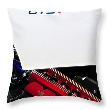 1998 Dodge Viper Gts-r Engine Throw Pillow by Jill Reger
