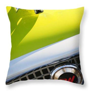 1959 Nash Metropolitan 1500 Convertible Hood Ornament - Grille Emblem Throw Pillow by Jill Reger