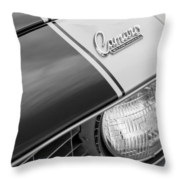 1969 Chevrolet Camaro Z-28 Emblem Throw Pillow by Jill Reger