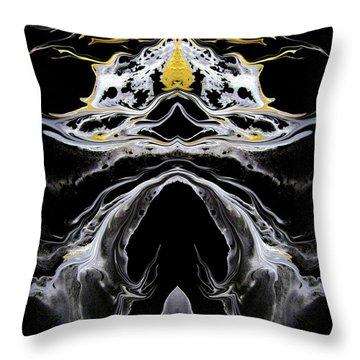 Abstract 138 Throw Pillow by J D Owen
