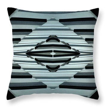 Abstract Buildings 6 Throw Pillow by J D Owen