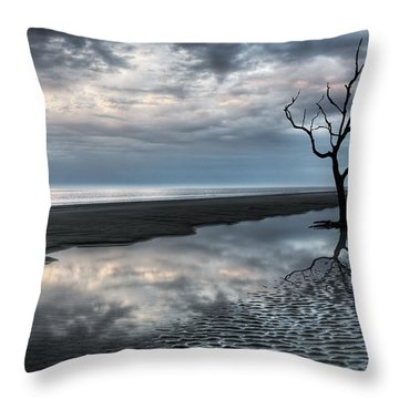 Alone Throw Pillow by Debra and Dave Vanderlaan