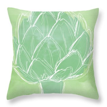 Artichoke Throw Pillow by Linda Woods