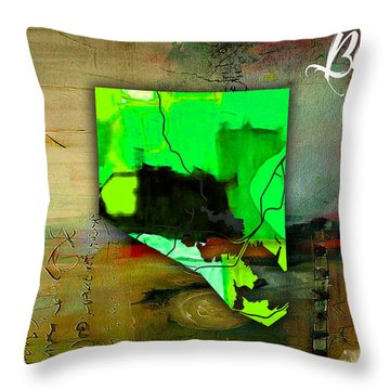 Baltimore Map Watercolor Throw Pillow by Marvin Blaine