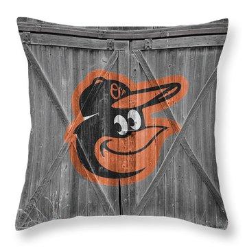 Baltimore Orioles Throw Pillow by Joe Hamilton