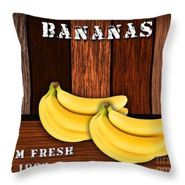 Bananas Throw Pillow by Marvin Blaine