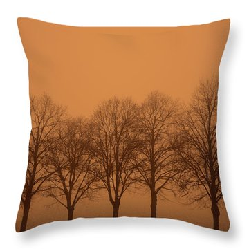 Beautiful Trees In The Fall Throw Pillow by Toppart Sweden
