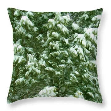 Beautiful Winter Tree Throw Pillow by Lanjee Chee