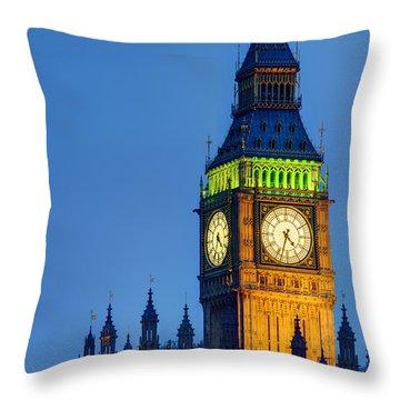 Big Ben London Throw Pillow by Matthew Gibson