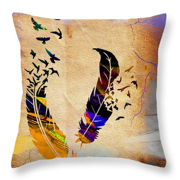 Birds Of A Feather Throw Pillow by Marvin Blaine