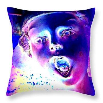 Blue Boy Throw Pillow by Ed Weidman
