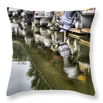 Boating Throw Pillow by Dan Sproul