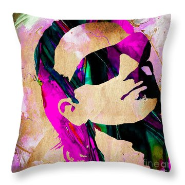 Bono U2 Throw Pillow by Marvin Blaine
