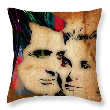 Cary Grant And Grace Kelly Collection Throw Pillow by Marvin Blaine