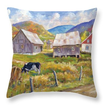 Charlevoix North Throw Pillow by Richard T Pranke