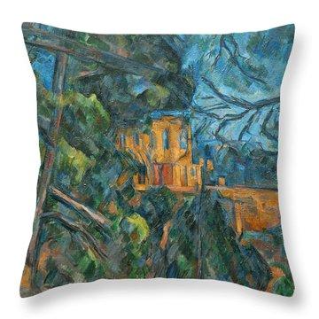 Chateau Noir Throw Pillow by Paul Cezanne