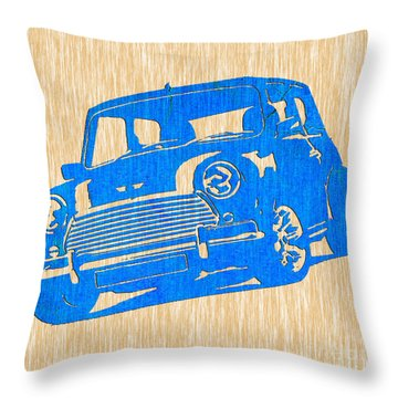 Classic Mini Cooper Throw Pillow by Marvin Blaine