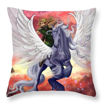 Fearless Throw Pillow by Kate Black
