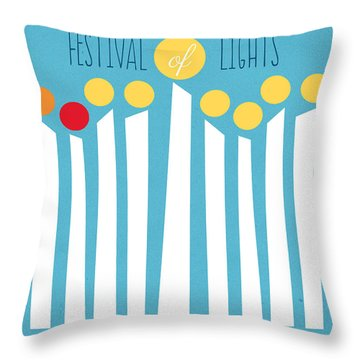Festival Of Lights Throw Pillow by Linda Woods