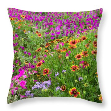 Garden Delight Throw Pillow by Lynn Bauer
