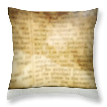 Grunge Newspaper Throw Pillow by Les Cunliffe