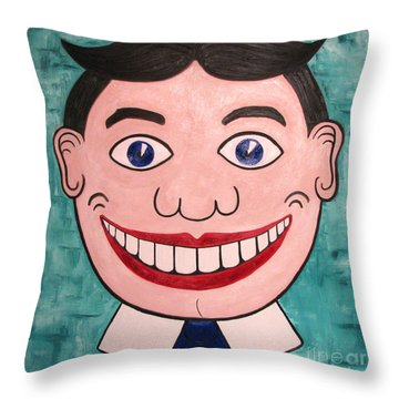 Happy Tilly Throw Pillow by Patricia Arroyo