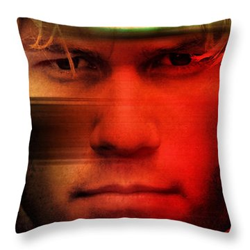 Heath Ledger Throw Pillow by Marvin Blaine