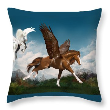 In A Hurry Throw Pillow by Kate Black