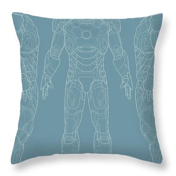 Iron Man Throw Pillow by Caio Caldas