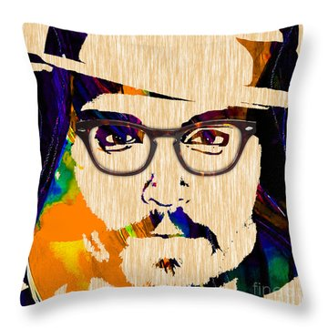 Johnny Depp Collection Throw Pillow by Marvin Blaine
