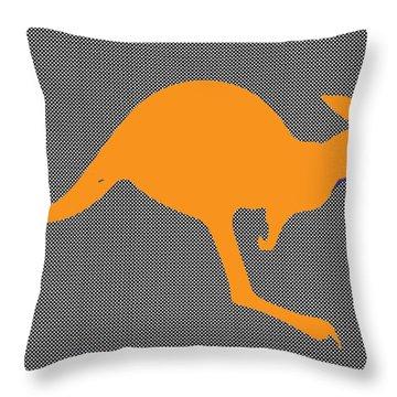 Kangaroo Throw Pillow by Manik
