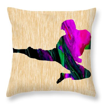 Karate Throw Pillow by Marvin Blaine
