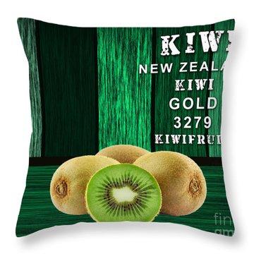 Kiwi Farm Throw Pillow by Marvin Blaine