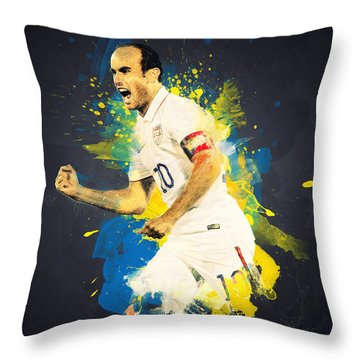Landon Donovan Throw Pillow by Taylan Soyturk