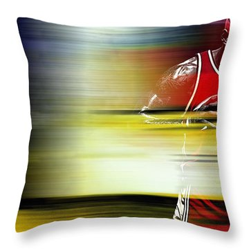 Lebron James Throw Pillow by Marvin Blaine