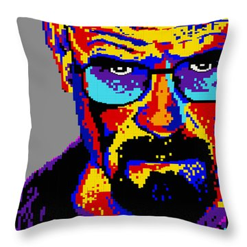 Lego Walter White  Throw Pillow by Marc Orphanos