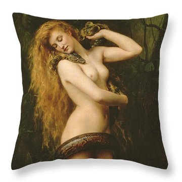 Lilith Throw Pillow by John Collier