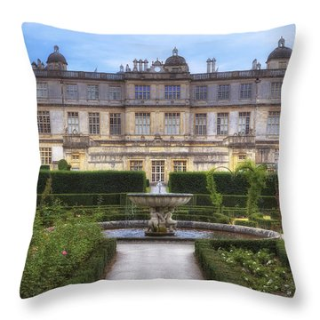 Longleat House - Wiltshire Throw Pillow by Joana Kruse