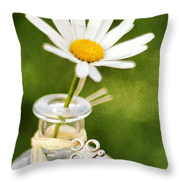 Love Me Love Me Not Throw Pillow by Darren Fisher