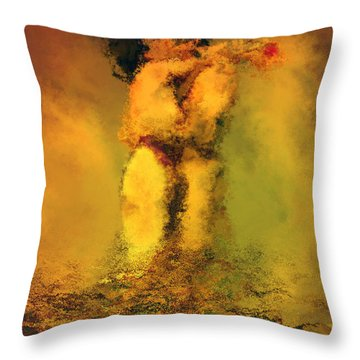 Lovers Throw Pillow by Kurt Van Wagner